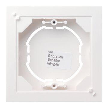 Gira System 55 1-voudig kunststof opbouwbehuizing, laag, mat, wit