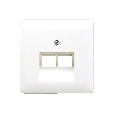 JUNG CD500 outlet-component kunststof, crèmewit, centraalplaat