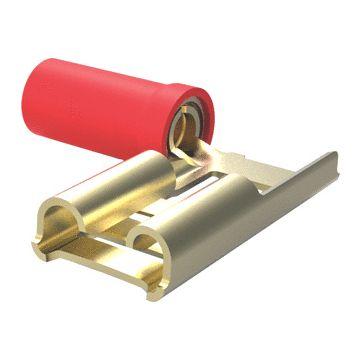 AMP Netconnect aderdoorverbinder rond/vlak huls rood, koper. vertind