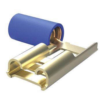 AMP Netconnect aderdoorverbinder rond/vlak blauw, koper. vertind, uitvoering haakse huls