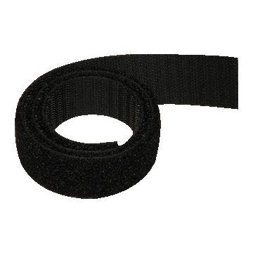 Alfatex klittenband dubbelzijdig, zwart, br 25mm