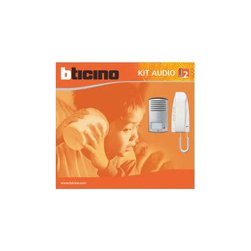 Legrand BTicino Sfera deurint set met infoschild, deurstation zilver. mat