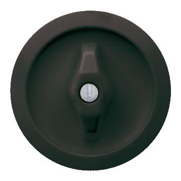 Hager berker 1930 bedieningselement/centraalplaat, zwart drukknop