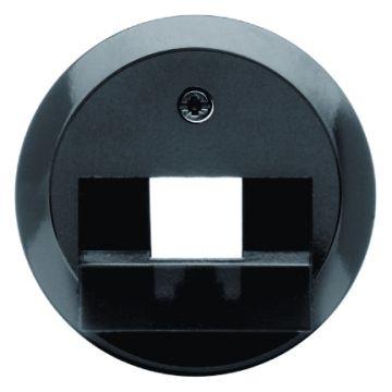 Hager berker 1930 bedieningselement/centraalplaat, zwart centraalplaat