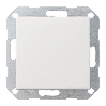 Gira System 55 1-voudig kunststof drukvlakschakelaar wissel schakelaar, wit (RAL 9010)