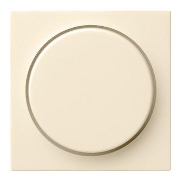 Gira S-Color kunststof inzetplaat met draaiknop voor Systeem 55 dimmer, glanzend crème, wit