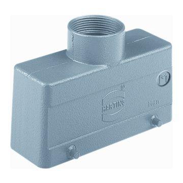 Harting behuizing industriële connector Han B, 43x71x120mm, rechthoek