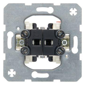 Hager berker serie drukcontact, grijs, basiselement, wip, contacten 2 maak