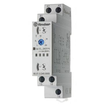 Finder 80 tijdrelais, DRA (DIN-rail adapter), uitvoering elektrische aansluiting