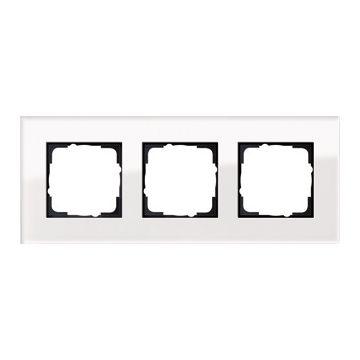 Gira Esprit 2-voudig kunststof afdekraam zonder middenstijl, glas, wit