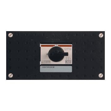 ABB schakelaarkast met deksel Hafonorm HS, 110x220x75mm, 4 polen