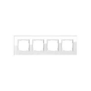 Gira Esprit 4-voudig kunststof afdekraam glas, wit
