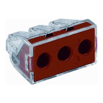 Wago lasklem 773, transparant, 3 klemposities, nom. diam 2.5-6mm², doos=50st