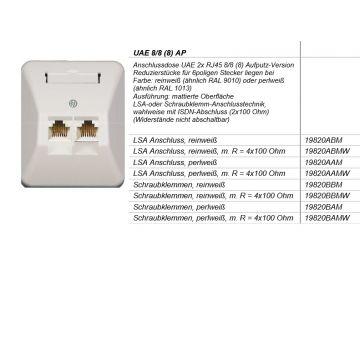 Isotel outlet-component kunststof, creme/wit/elektrowit