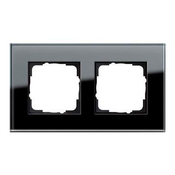 Gira Esprit 2-voudig kunststof afdekraam glas, zwart