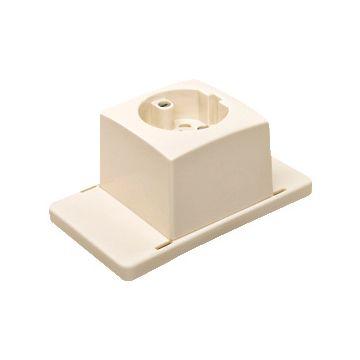 ABB deksel voor doos op wand/plafond Hafobox, kunststof, wit