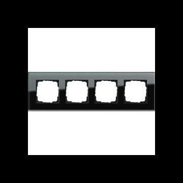 Gira Esprit 4-voudig kunststof afdekraam glas, zwart