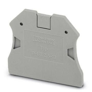 Phoenix Contact eindplaat rijgklem D-UT, grijs, uitvoering eindplaat, dikte 2.2mm