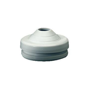 Hensel tule, lichtgrijs, voor kab diam 23mm, voor wand 5mm, buis invoertule