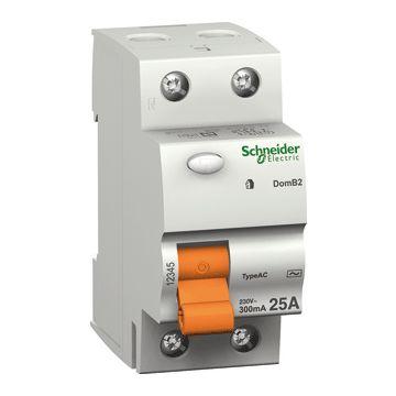 Schneider Electric Domae ID aardlekschakelaar 1P+N, 2 polen, 40A, 30mA