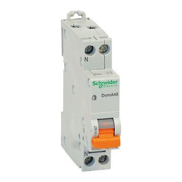 Schneider Electric Domae installatieautomaat 1P+N, meeschakelende nul, 16A, 2 polen, 2 polen (totaal)