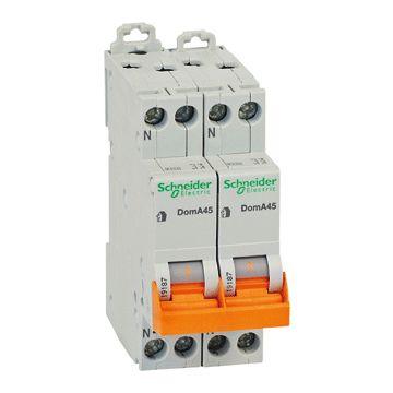 Schneider Electric Domae installatieautomaat 2P+2N, meeschakelende nul, 16A, 4 polen, 4 polen (totaal)