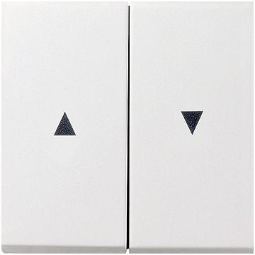 Gira F100 2-voudig kunststof bediening t.b.v. jaloezie schakelaar, wit (RAL9010)