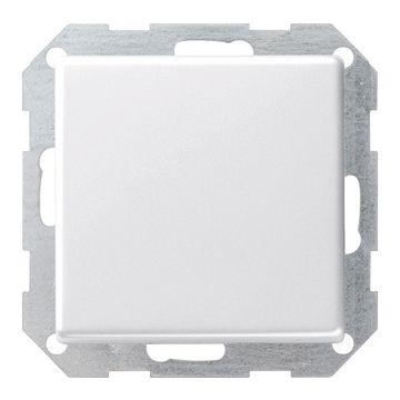 Gira E22 1-voudig kunststof inbouw drukvlakschakelaar kruis schakelaar, wit (RAL9010)
