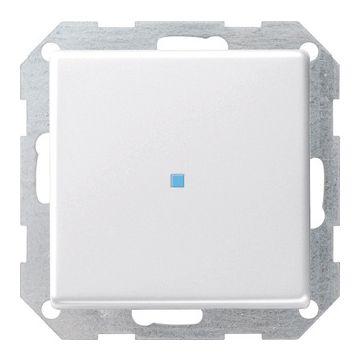 Gira E22 1-voudig kunststof inbouw drukvlakschakelaar wissel schakelaar controle verlichting, wit (RAL9010)