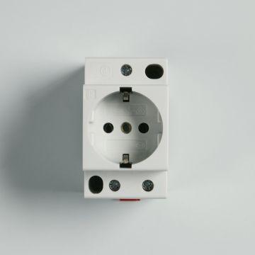Attema wandcontactdoos mod randaarde Click-mate XL-Plus grijs, DRA (DIN-rail ad)