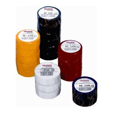 Cellpack zelfklevende tape 128, PVC, blauw, (lxb) 10mx15mm, UV-bestendig, isol