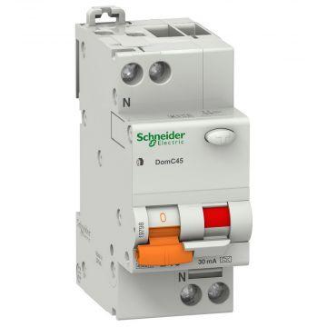 Schneider Electric DOMAE VIGI aardlekautomaat 1P+N, kar B, 230V, 16A, 30mA, 4.5kA