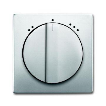 Busch-Jaeger Pure Stainless Steel centraalplaat voor ventilatorschakelaarsokkel 2711 U met draaigreep, edelstaal