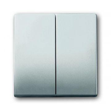 Busch-Jaeger Pure Stainless Steel bedieningswip 2-delig, edelstaal