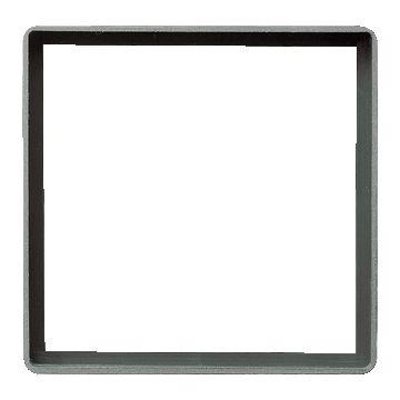 Gira E22 kunststof inbouwraam inzetplaat vierkant gat, 55x55mm, grijs/zilver