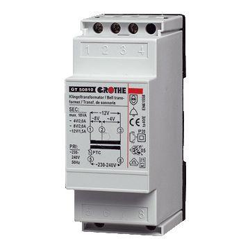 Grothe beltransformator, 90x36x55mm, prim 230V, sec 1 8V
