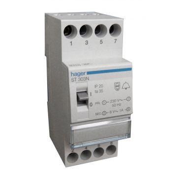 Hager beltransformator VISION, 64x70x85mm, prim 230V, sec 1 8V