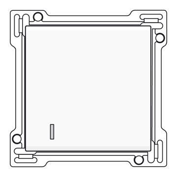 Niko Original afwerkingsset voor enkelvoudige schakelaar of drukknop met lens, wit