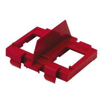 ABB outlet-component Hafobox DR kunststof, rood, basiselement, modular-Jack