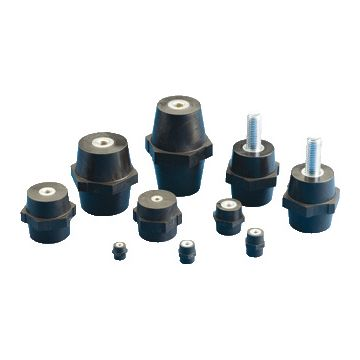 Erico isolator ISO TP, poly/glasvezelverst., zwart, ho 70mm, tapgat M10