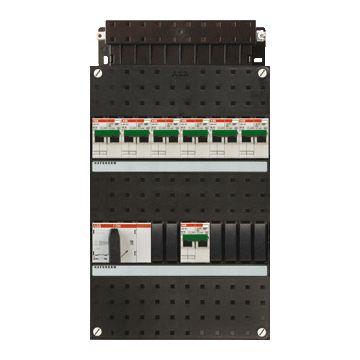 ABB Hafonorm HC installatiekast, 3 fasen, 7 groepen, met 7 aardlekautomaten, met 4 polen hoofdschakelaar, (hxbxd) 330x220x90mm