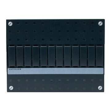 ABB installatiekast leeg Hafonorm HLD, zwart, (hxbxd) 165x220x131mm, DIN-rail