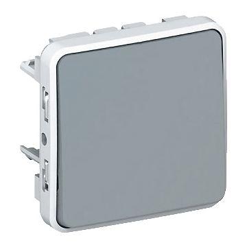 Legrand BTicino Plexo installatieschakelaar IP55 kunststof, grijs, schakelaar wiss schakelaar