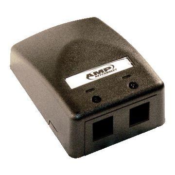 AMP Netconnect outlet-component Office box kunststof, zwart, opbouw ds, modular-Jack