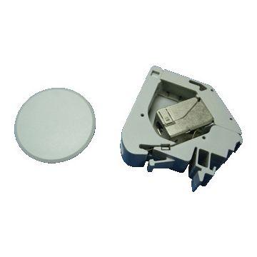 Radiall outlet-component ind Ethernet kunststof, grijs, bas elm