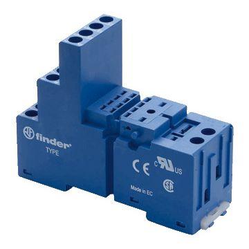 Finder relaisvoet 55, bl, (bxhxd) 27x64.8x76.2mm