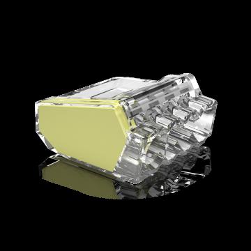 Conex lasklem, transparant, 4 klemposities, nom. diam 1-2.5mm², doos=50st