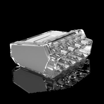 Conex lasklem, transparant, 5 klemposities, nom. diam 1-2.5mm², doos=50st