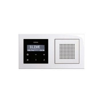 Gira E2 kunststof inbouw radio, compleet, RDS, wit (RAL9010)