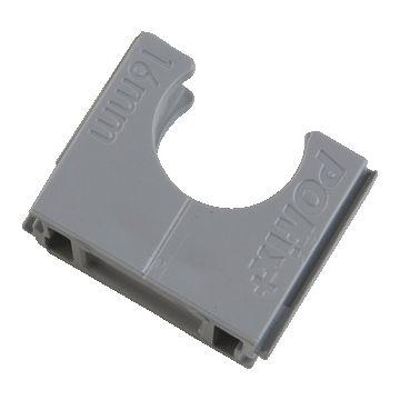 Pipelife drukzadel Polfix+ Halovolt, kunststof, licht grijs, diam 19mm